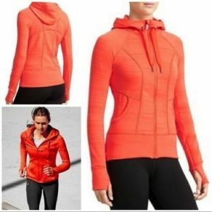 ATHLETA Orange Zip Up Jacket M